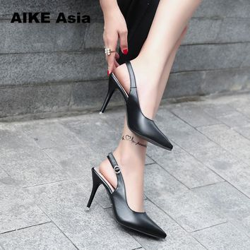 2018 New Fashion high heels Women Pumps Thin Heel Classic Wedding Shoes Sexy Prom Party Shoes  sandals Casual Pointed Toe