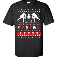 Ice Hockey Christmas Ugly Sweater - Unisex Tshirt