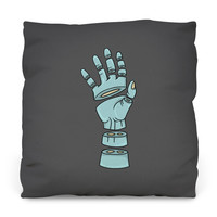 Severed Hand Outdoor Throw Pillow