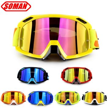 brand new Motorcycle Helmet Goggle Motocross Glasses Motor Bike Racing Gafas  Soman SM15