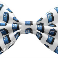 Dr. Who Tardis Inspired Hair Bow