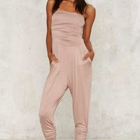 Late Night Ruche Jumpsuit