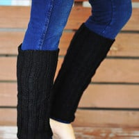 Nice And Cozy Leg Warmers: Black | Hope's