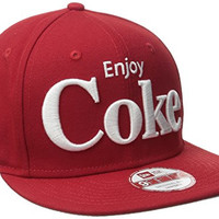 New Era Cap Men's Block Back Coca-Cola 9Fifty Snapback Cap, Red, One Size