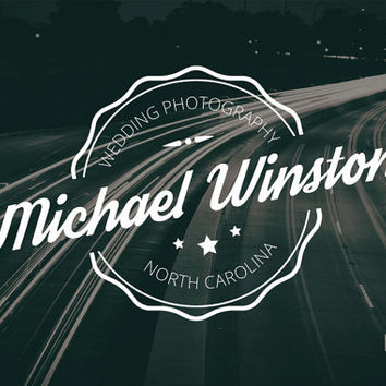Premade Photography Vintage Logo Template, Small Business Logo, Photography Logo, Crafts Logo, Blog Logo