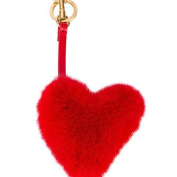 ESBONJF Anya Hindmarch Red Fur Heart Bag Charm - Farfetch
