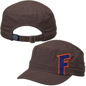ONETOW NCAA Florida Gators Women's Top of the World Charcoal Party Girl Cadet Adjustable Hat