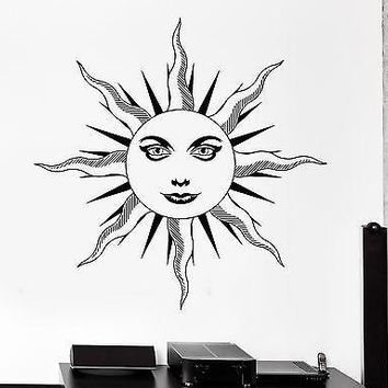 Wall Decal Sun Space Universe Ornament Tribal Mural Vinyl Decal Unique Gift (z3177)