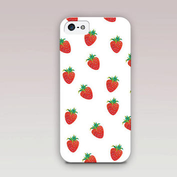 Strawberry Phone Case For - iPhone 6 Case - iPhone 5 Case - iPhone 4 Case - Samsung S4 Case