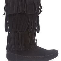 Tiered Fringe Boots | Wet Seal