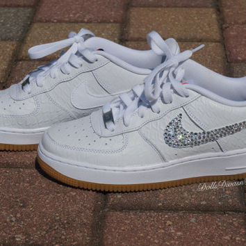 Brand New Snake Skin Air Force Ones from Dolls Divas and Diamonds 52c21ad7130b