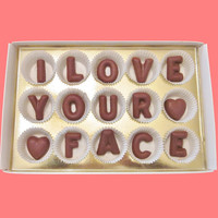 I Love Your Face Large Milk Chocolate Letters