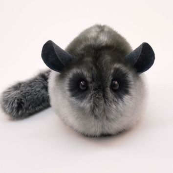 Smokey the Grey Chinchilla Stuffed Animal Plush Toy