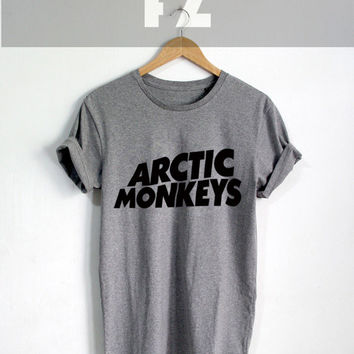 Arctic Monkeys Shirt The Artic Monkeys T-shirt Tee Shirt Grey Color Unisex Size - NK75