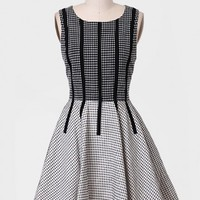 Stop Time Grid Dress By Line