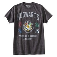 Men's Harry Potter Hogwarts Graphic Tee - Charcoal Heather