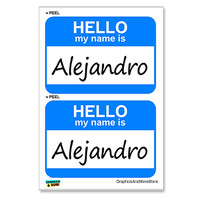Alejandro Hello My Name Is - Sheet of 2 Stickers