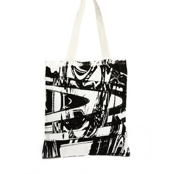 Your Eyes Lie Monochrome Print Shopper Bag - Monochrome