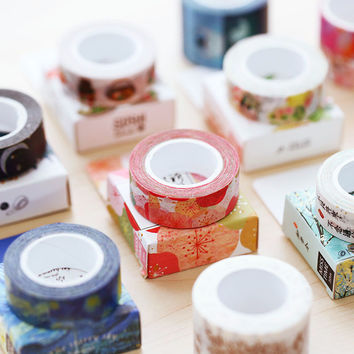 15mm X 10m Cute Kawaii Japanese Decorative Scotch Diy Washi Tape Adhesive Tape Scrapbooking Tools Sticker Label Masking Tape