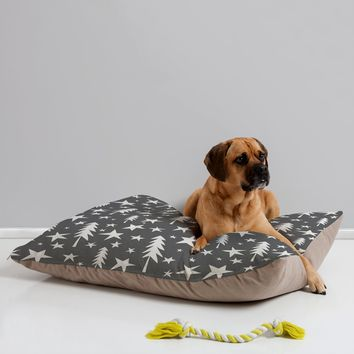 Heather Dutton Wish Upon A Star Grey Pet Bed