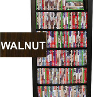 "Bookcase Media Tower - Single (Dark Walnut) (50""H x 28""W x 9.5""D)"