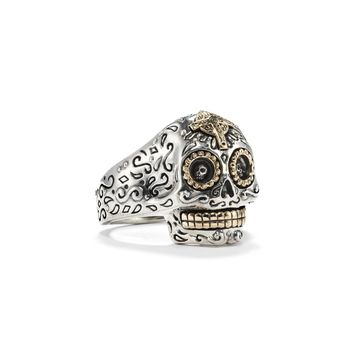 Adjustable Sugar Skull Ring