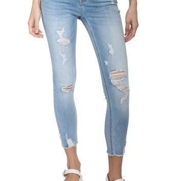 Vervet Midrise Distressed Crop Skinny