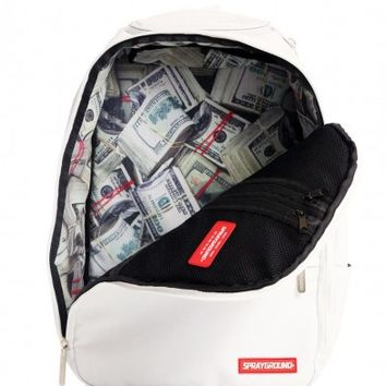 Stashed White Backpack | Sprayground Backpacks, Bags, and Accessories