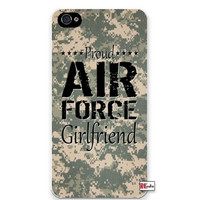 Premium Direct Print Proud Air Force Girlfriend United States USA Camo iphone 6 Quality Hard Snap On Case for iphone 6/Apple iphone 6 - AT&T Sprint Verizon - White Case PLUS Bonus RCGRafix The Best Iphone Business Productivity Apps Review Guide