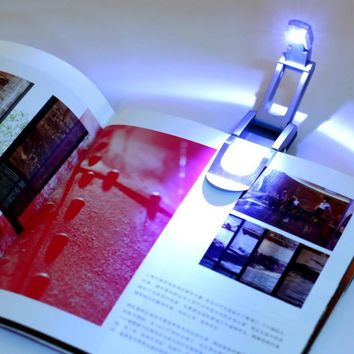 Portable Super Bright Clip On Adjustable LED Book Desk Light Reading Booklight Lamp Bulb For Kindle