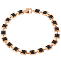Nak Armstrong Rose Gold Black Spinel Square Bracelet | Jewellery | Liberty.co.uk
