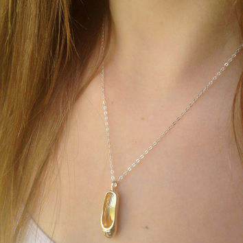 ballerina sterling silver and gold necklace beautiful present for little girls