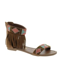 New Look Fringed Bead Cuff Flat Sandals