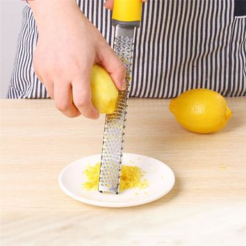 New Multifunction Stainless Steel Lemon Zester Fruit Peeler Cheese Zester Microplane Grater Fruit Vegetable Tools & Kitchen