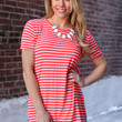 Out of Line Tunic - Coral