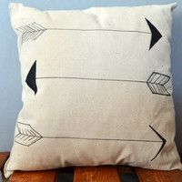 Arrow Hand Painted Pillow