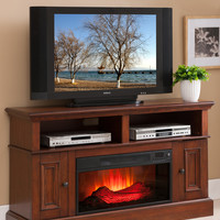 Convenience Concepts Designs 2 Go TV Stand with Electric Fireplace