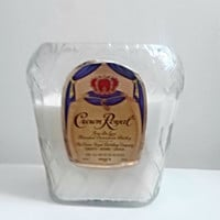 Gorgeous Crown Royal Canadian Whiskey Bottle All Natural Soy Candle
