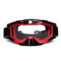 Skiing Glasses Goggle Eyewear With Nose Guard Dark Gray Silver Print Motorcycle Goggles motocross