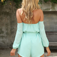 Sweet Chill Playsuit - Mint | SABO SKIRT
