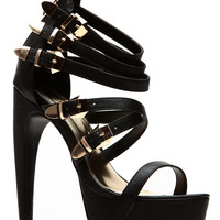 Liliana Black Abstract Platform Heel