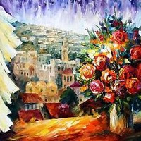 Flowers of Jerusalem   —  Oil Painting On Canvas By Leonid Afremov Size: 30x24""