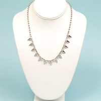 Crystal Clear Spiked Necklace