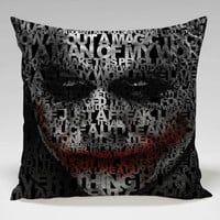 joker quotes poster Square Pillow Case Custom Zippered Pillow Case one side and two side