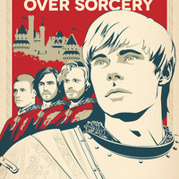 Join Camelot's Knights - Merlin Art Print by Olivia Desianti