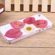 Daisy red petals pressed flower iPhone case Galaxy case 018