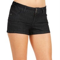 SALE-Dark Denim Polka Dot Shorts