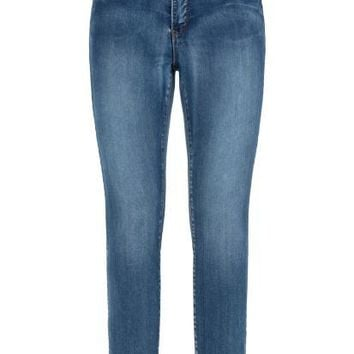 Tribal Elastic Waist Ankle Jegging Retro Blue