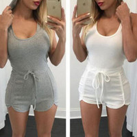 Fashion Strappy Solid Color Jumpsuit Rompers