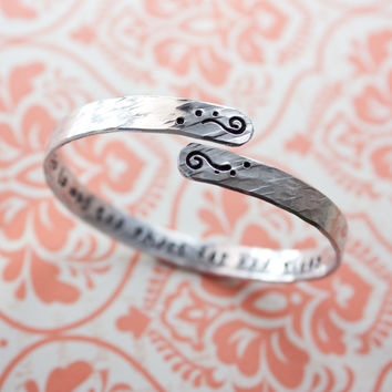 life is way too short for bad vibes, customizable quote bracelet, swirl spiral bangle, inspirational, personalized gift, RTS BA008